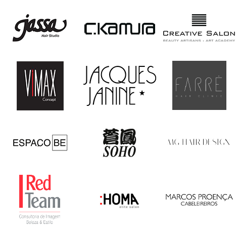 Jassa, CKamura, Creative Salon, Vimax Concept, Jacques Janine, Farré Hair Clinic, EspaçoBe, Soho, MG Hair Design,  Red Team, Homa Elite Salon e Marcos Proença Cabeleireiros